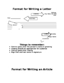 Writing a Letter or Article Format
