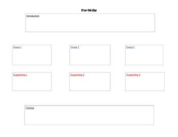 Writing a Letter/Paragraph Graphic Organizer