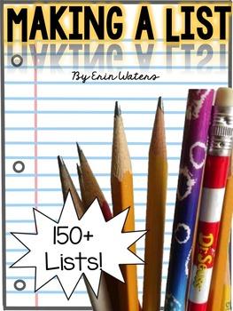 Writing a List {150+ Lists}