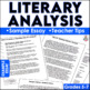 Literary Analysis Writing Unit