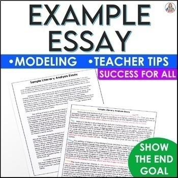 Literary Analysis Writing Activity