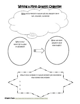Writing a Myth Graphic Organizer and Template