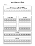 Writing a Myth: Planning Page and Writing Paper