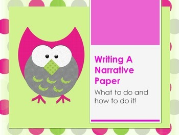 3rd, 4th, 5th grade Writing a Narrative Paper STAAR Review