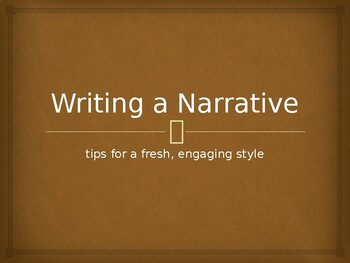 Writing a Narrative Power Point Lesson