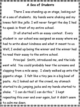 Writing a Narrative: School Memories  Lesson Plans and Printables