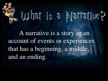 Writing a Narrative (with Harry Potter)