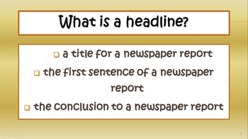 'Writing a News Report' Resource Bundle
