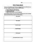 Writing a News Report Template based on the novel Crabbe - Literacy (OSSLT) Prep
