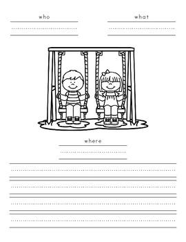 Writing a News Story - Open Court Kindergarten - Unit 4