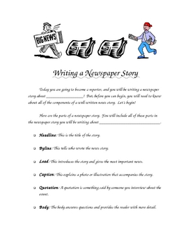 Writing a Newspaper Story How-To Guide