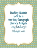Writing a One-Body Paragraph Analysis, Using Bradbury's Fa