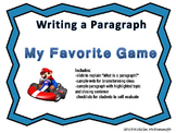 Writing a Paragraph-My Favorite Game