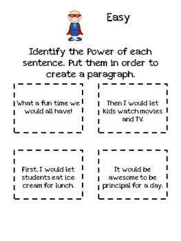 Writing a Paragraph Curriculum with Power Writing