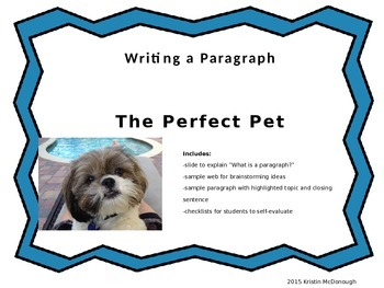 Writing a Paragraph-The Perfect Pet