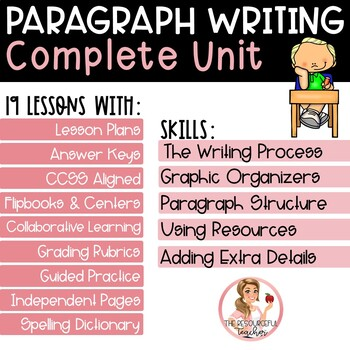 Writing a Paragraph Using Step up to Writing Complete Unit