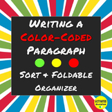 Writing a Paragraph Word Sort & Foldable Graphic Organizer