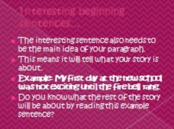 Writing a Personal Narrative PowerPoint Part 1
