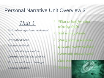 Writing a Personal Narrative PowerPoint Week 2