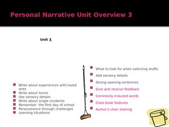 Writing a Personal Narrative PowerPoint Week 4