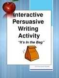 Persuasive Essay Activity