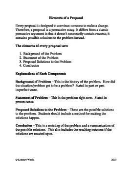 Writing a Persuasive Essay: Proposal