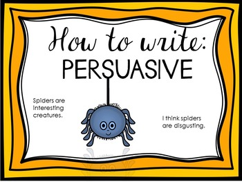 Writing a Persuasive Piece {Posters, Labels and Rubric}
