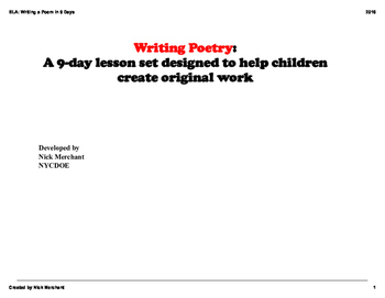 Writing a Poem in 9 Days: SmartBoard slides (PDF)