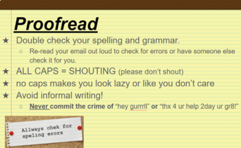 Computer Class - Writing a Professional Email, Google Slides