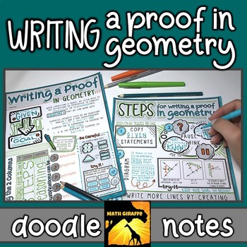 Writing a Proof - Doodle Notes