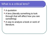 Writing a Critical Lens Essay with ROIL mnemonic - PowerPoint