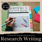 Writing a Research Paper PORTFOLIO: Grades 8-12 EDITABLE