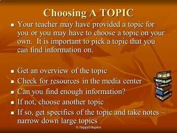 Writing a Research Paper PowerPoint for Middle Grades