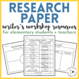 Writing a Research Paper Resources for Elementary Students