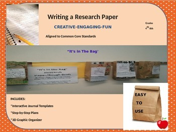 Writing a Research Paper with an Interactive Journal aligned to Common Core
