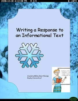 Writing a Response to an Informational Text