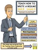 TEACH HOW TO WRITE A RESUME