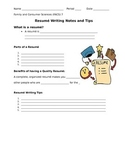 Writing a Resumé Guided Notes Sheet [Corresponds to PPT]