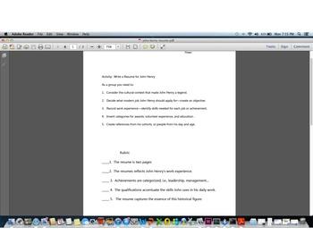Writing a Resume for John Henry