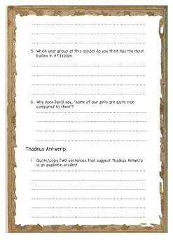 Worried Sick by Rachel Flynn-  Activities and Guided Writing - Writing a Review