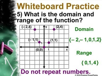 (Alg 1) Domain and Range of a Function in a PowerPoint Presentation