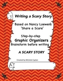 Writing a SCARY STORY - Halloween Graphic organizers