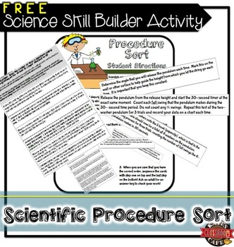 Science Skill Builder Procedure Sorting Activity
