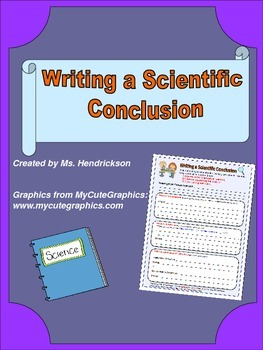 Writing a Scientific Conclusion: Graphic Organizer with Paragraph Frame for ELLs