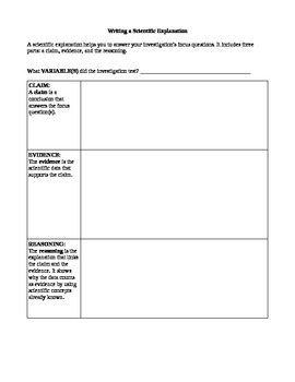 Writing a Scientific Conclusion Template