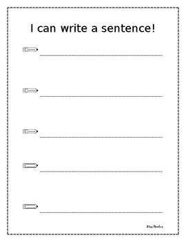 Writing a Sentence Practice