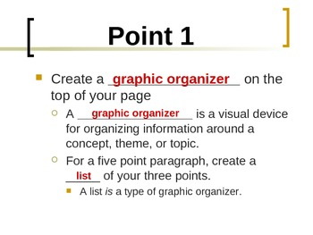 Writing a Seven-Point Paragraph Interactive PowerPoint Notes