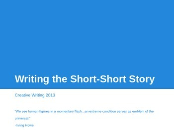 Writing a Short-Short Story