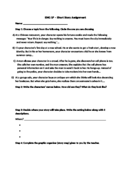 Writing a Short Story Assignment - Step-by-step project for students