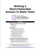 Writing a Short/Extended Answer in State Tests